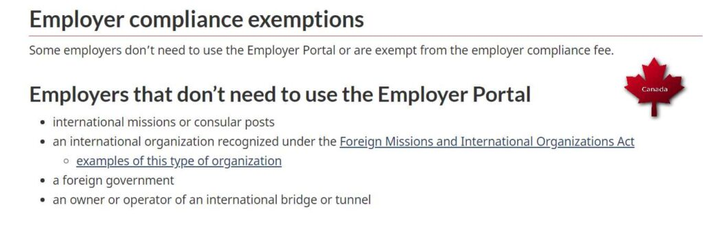 Open Worker permit categories - IMP exemption for Employers